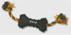 Jeep Rubber Bone Dog Toy