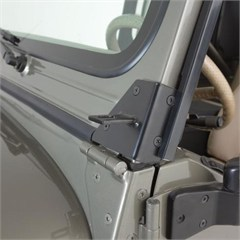 Windshield Hinge Light Brackets, 76-95 Jeep CJ7 & Wrangler, Stainless