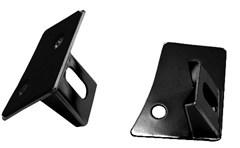 Windshield Light Mounting Brackets Wrangler JK 2007-2018 in Black