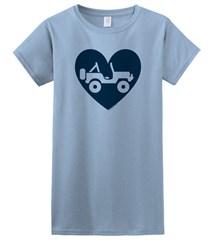 """""""Heart Wrangler"""" Juniors Short Sleeved Shirt in Blue"""