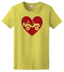"""""""Heart Wrangler"""" Womens Short Sleeved Shirt in Yellow"""