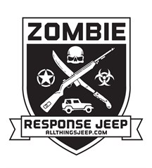 Zombie Response Jeep Decal