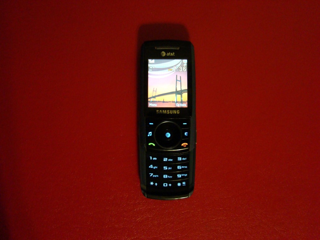 Samsung SGH A737 Blue ATT Cell Phone GSM Slider Keypad Bluetooth