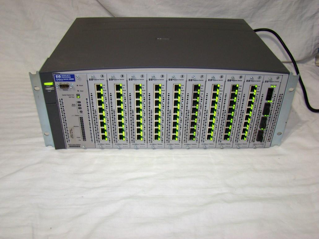 Details about FAULTY FAN HP 4000M J4121A PROCURVE SWITCH 9 J4111A 10/100  PORT MODS & 1 J4112A
