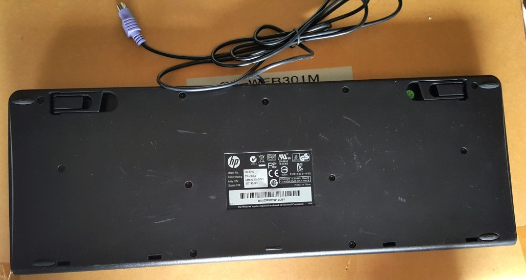 Hp Ps  2 Basic Keyboard Kb-0316