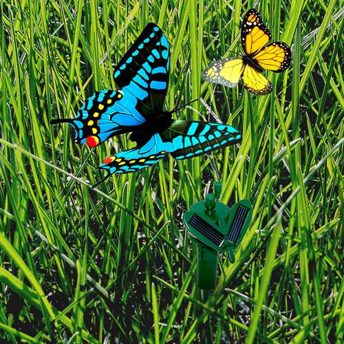 Hqrp 2 Solar Powered Flying Fluttering Butterflies Yellow