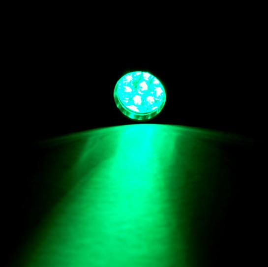 Feu Vert 9 DEL de poche en aluminium lampe de poche pour Nuit de marche chasse pêche