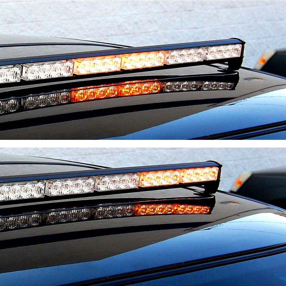 Hqrp 32 led amber emergency traffic advisor flash strobe light bar hqrp 32w led light strobe bar in amber color is perfect for installation on the windscreen front and rear bumper that increases the visibility of the aloadofball Gallery