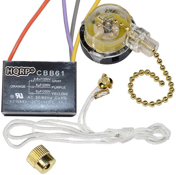 Ventilador 3 velocidades 4 cables