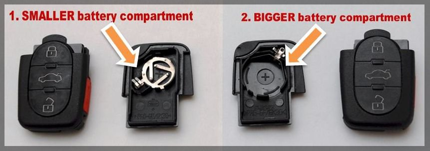 Flip Key FOB For Audi A Remote Case With - Audi car key battery