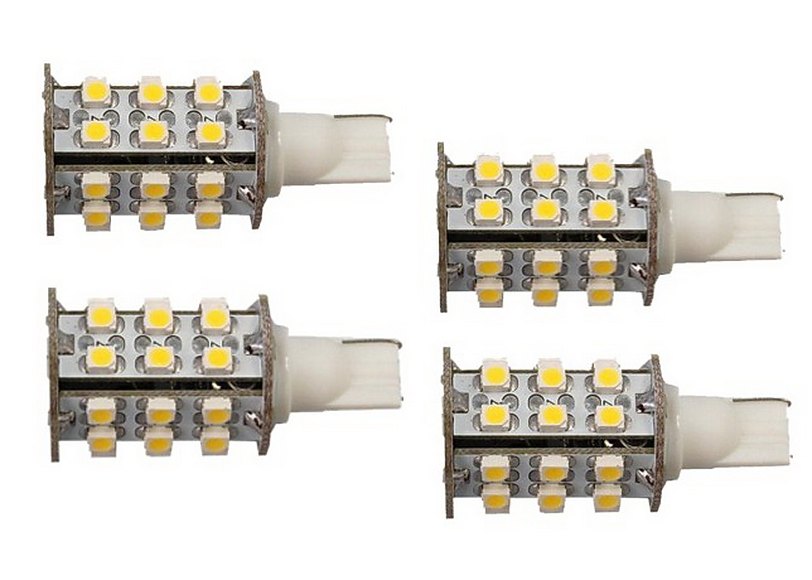 4x T10 Wedge Base 30 Leds Bulb Replacement For 194 921