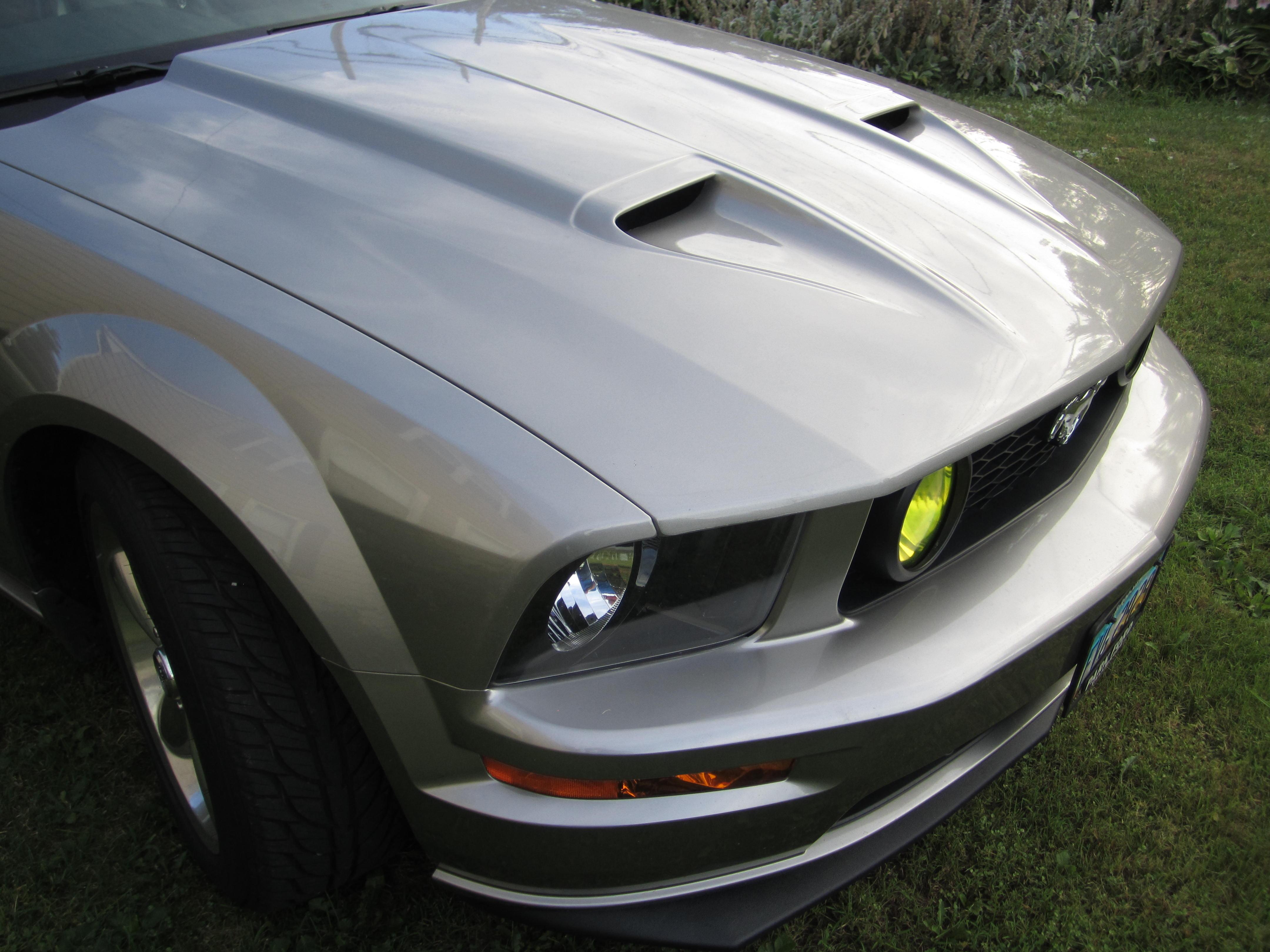 05-09 Mustang Mach One Ram Air Hood - Cervini's Auto Designs