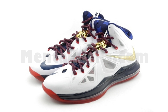 best sneakers 88d5f b92f7 Nike Zoom LeBron 10(X) WhiteNavy GoldMedal,basketball shoes  Complete set  with original shoe box, nike sport pack (includes 2 sensors, 1 ...