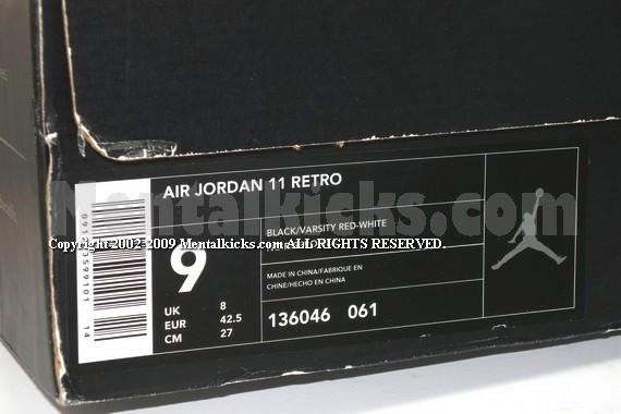 Nike Air Jordan 11 Retro Nero / Varsity Rosso-bianco Del 2001 Jeep 8a4215Vujn