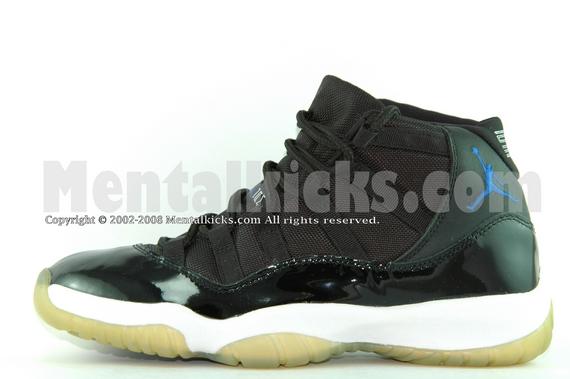 Mentalkicks.com - Nike air jordan 11 Space Jam black/varsity royal-white  136046-041