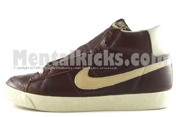 brown leather nike blazers