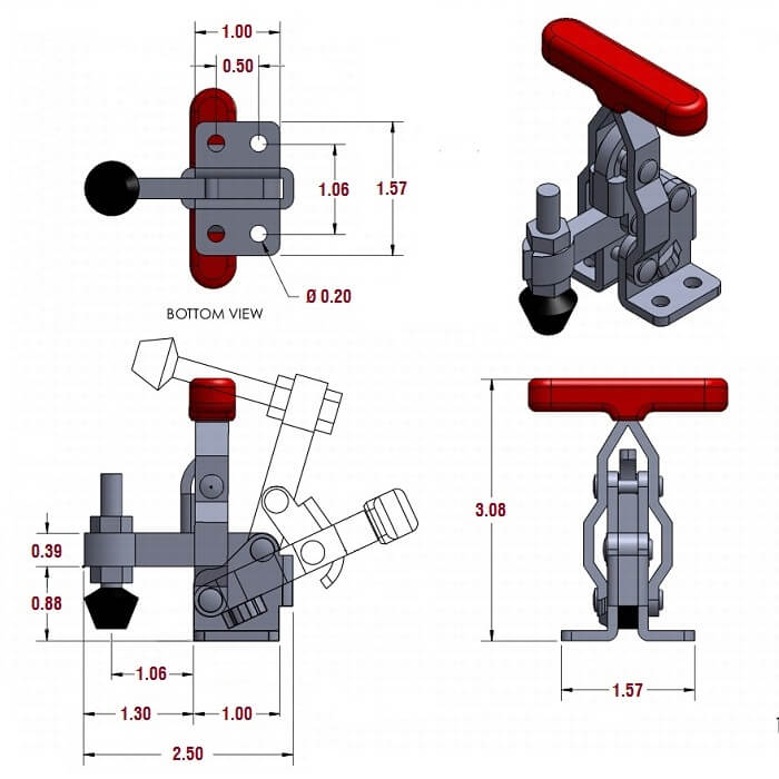 Toggle Clamps Vertical Handle Toggle Clamps 12070 The