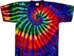 extreme rainbow tie dye shirt