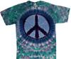 Teal and Lavender Peace Sign Tie Dye Shirt