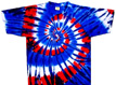 red wild blue tie dye shirt
