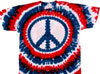 Patriotic peace sign tie dye shirt