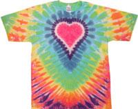 Pastel heart tie dye t shirt