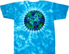 earth on sky blue tie dye t shirt