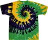 mardi gras spiral tie dye shirt