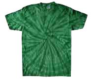 Kelly Green spiral t shirt
