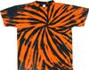 Orange black spiral tie dye t shirt