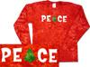 Christmas peace tie dye t shirts