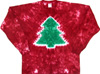 Red Christmas tree holiday tie dye t shirt