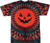 Halloween jack-o-lantern face tie dye t-shirt