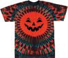 Halloween jack-o-lantern tie dye t shirts