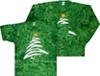 Green Christmas Tree tie dye t-shirt
