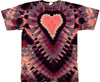 Pink and purple heart tie dye t-shirt