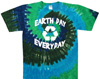 Tie dye recycle earth day t shirt