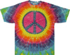 Pastel peace sign tie dye shirt