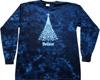 Christmas believe tie dye t-shirt