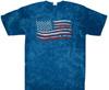 American fag tie dye t shirt