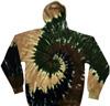 Camouflage spiral tie dye hoodie