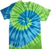 St Lucis spiral tie dye t shirts