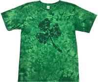 Lucky shamrock tie dye t shirt