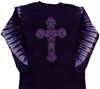 Tie dye purple Cross shirt
