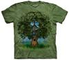 Guitar tree tie dye t shirt