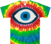 Rainbow tie dye eye t shirt