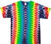 Rainbow battery tie dye shirt