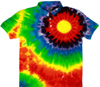Sunburst polo tie dye t shirts