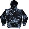 Marble tie dye black and white hoodie