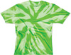 Lime spider dri fit tie dye shirt